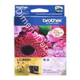 Jual Tinta / Cartridge BROTHER Yellow Ink  [LC-400 Y]